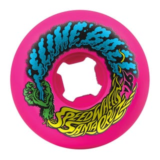 Santa Cruz Slime Balls Vomit Mini 97a 54mm Skate Wheels - Neon Pink