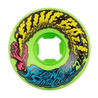 Santa Cruz Slime Balls Vomit Mini 97a 54mm Skate Wheels - Neon Green