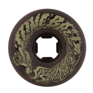 Santa Cruz Slime Balls Vomit Mini 97a 56mm Skate Wheels - Black Glow