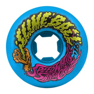 Santa Cruz Slime Balls Vomit Mini 97a 54mm Skate Wheels - Neon Blue