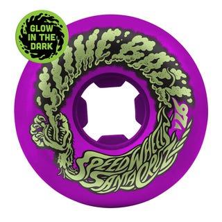 Santa Cruz Slime Balls Vomit Mini 97a 56mm Skate Wheels - Neon Purple