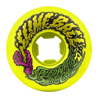 Santa Cruz Slime Balls Vomit Mini 97a 54mm Skate Wheels - Yellow