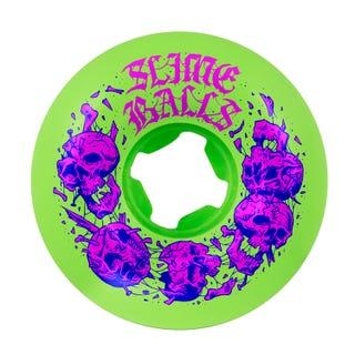Santa Cruz Wheels Slime Balls Skulbashr Vomit Neon Green