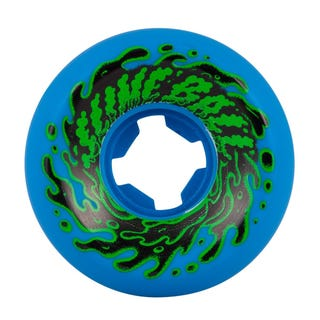 Santa Cruz Double Take Vomit Mini Neon 97a Wheels Blue 54mm