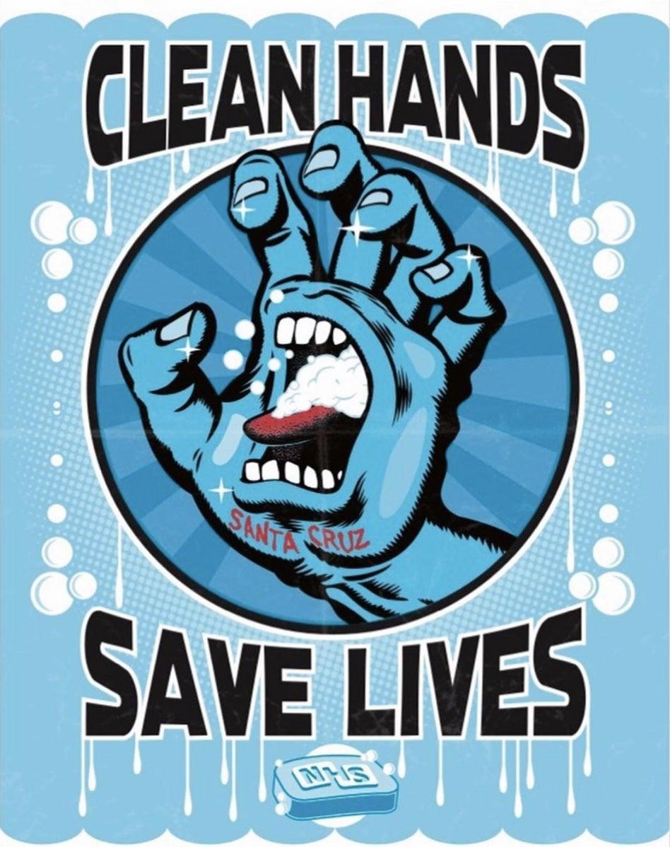 Santa Cruz - Clean Hands Save Lives